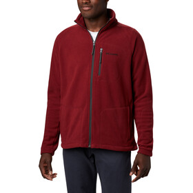 Columbia Fast Trek II Fleece Jack Doorlopende Rits Heren, red jasper